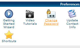 Change password for cPanel step 1